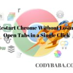 Restart Chrome Without Losing Open Tabs in a Single Click
