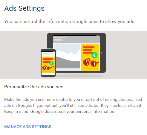Stop Google From Serving Interest Based Persolized Ads files