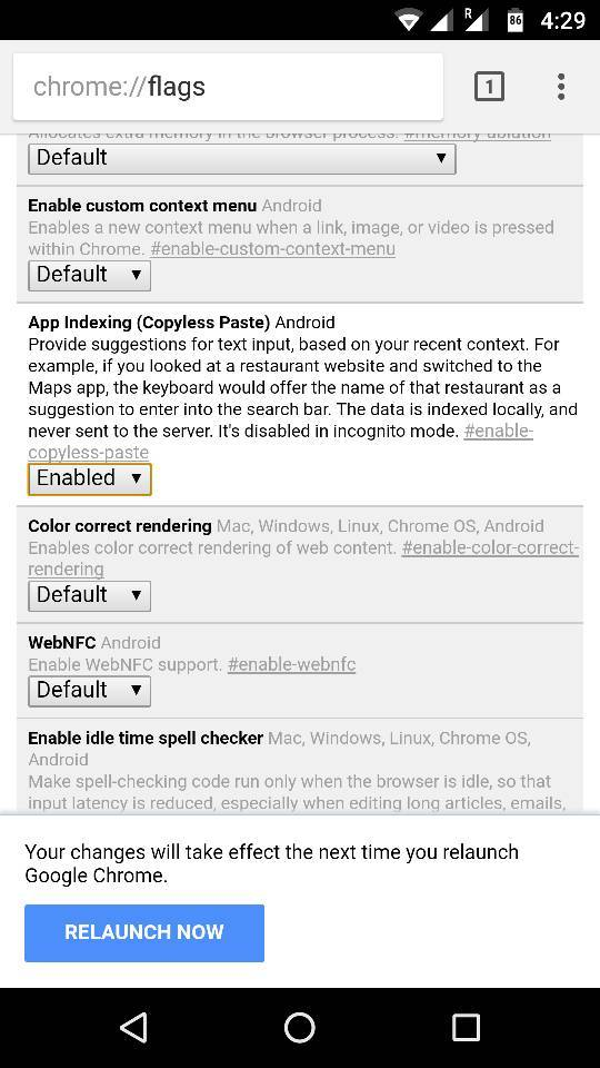 enable copyless Paste feature in Chrome