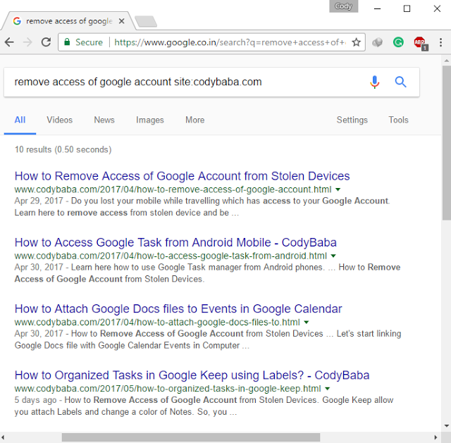 Search+result