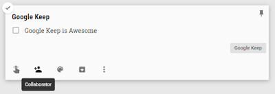 Add Family or Friends in Google Keep Note