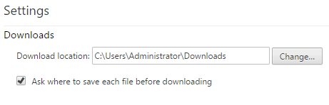 make chrome to choose folder for downloading