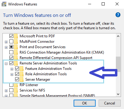 Enable or Disable Windows 10 RSAT?