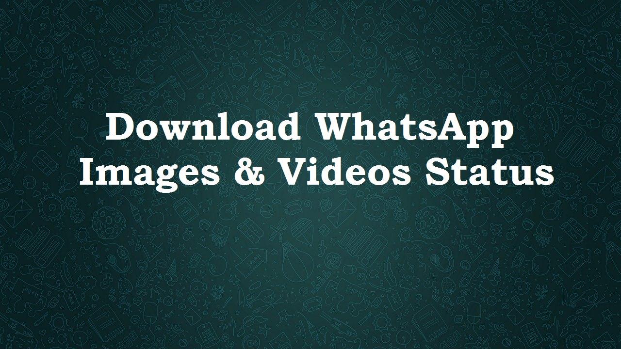 Download WhatsApp Images & Videos Status