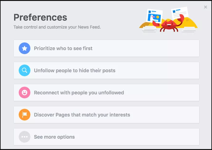 tune to facebook news feed