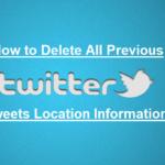 twitter Delete location information