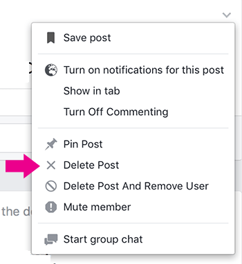 How to Remove a Post from Facebook Group
