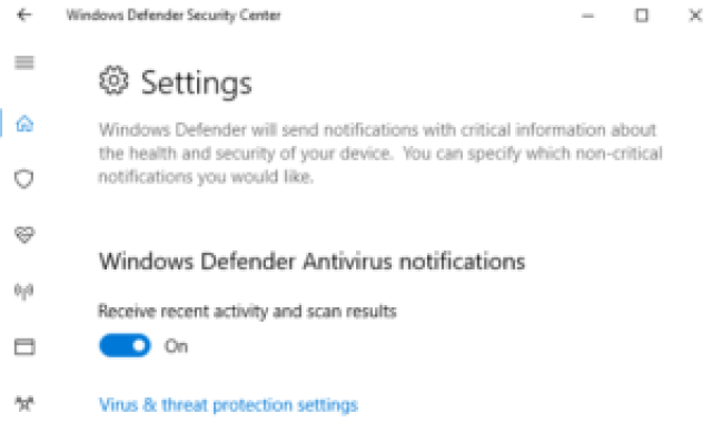 How to Turn On or Off Windows Defender