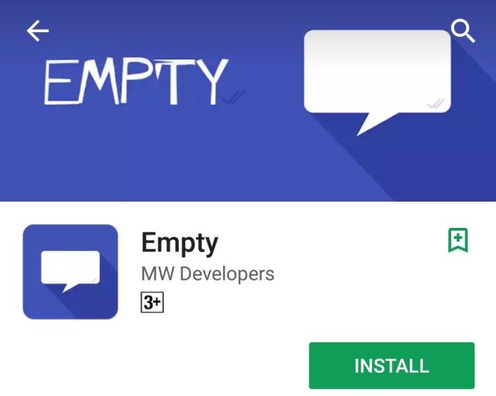 Send Blank Message In WhatsApp