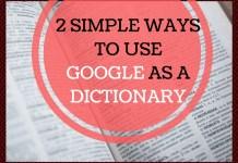 Use Google as a Dictionary