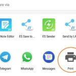 Chrome Share Via Print