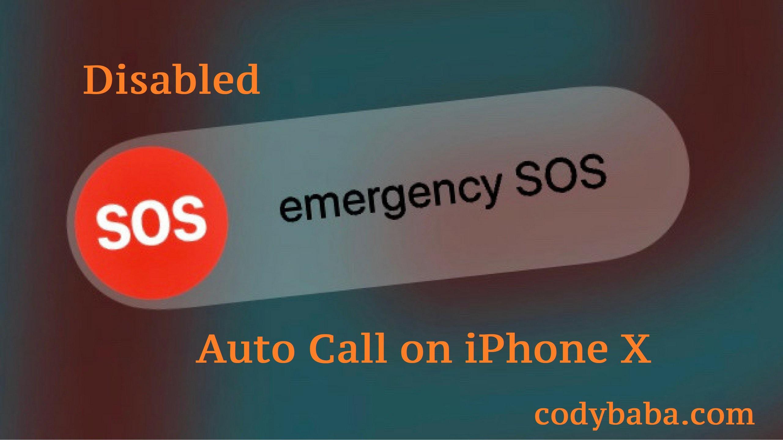 Auto call SOS