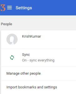 Google Chrome Settings adv