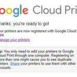 Google Chrome Settings adv Printing GCP Manage Add Printers email login Thanks