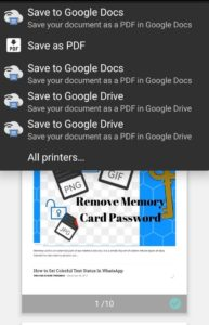 Google Cloud Print Select Printer