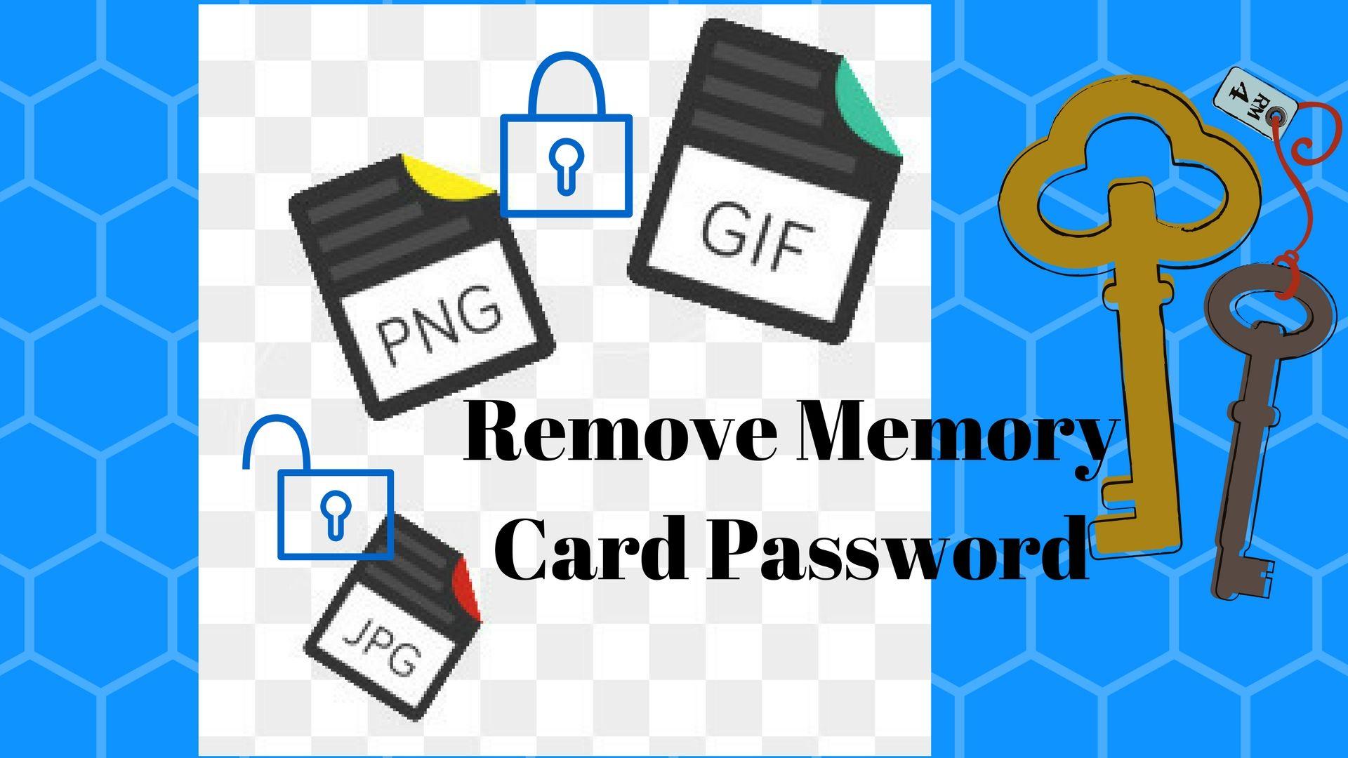 Remove Memory Card Password