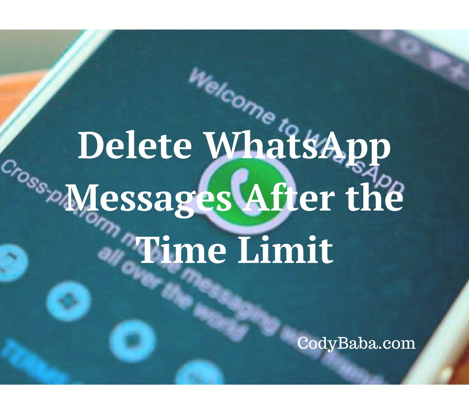 Delete WhatsApp Messages After the Time Limit