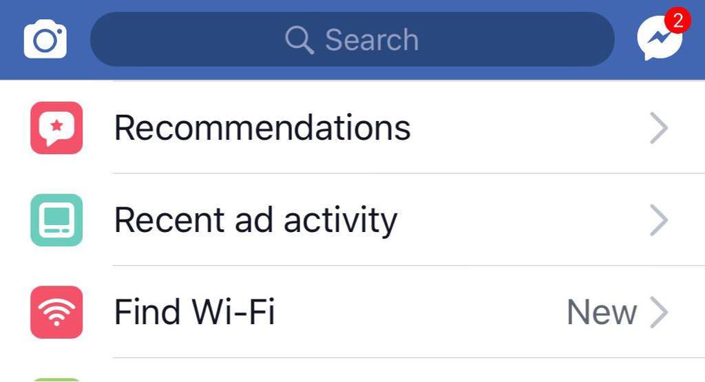 Enable Find Wi-Fi Facebook iOS App