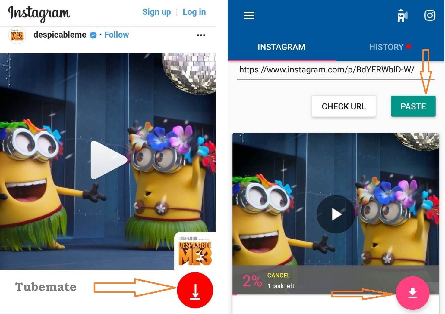 Tubemate & video download for instagram
