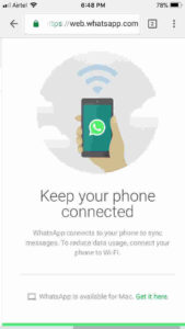 Access one WhatsApp account on Two devices using Web WhatsApp