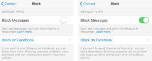 Block Messages in Messenger
