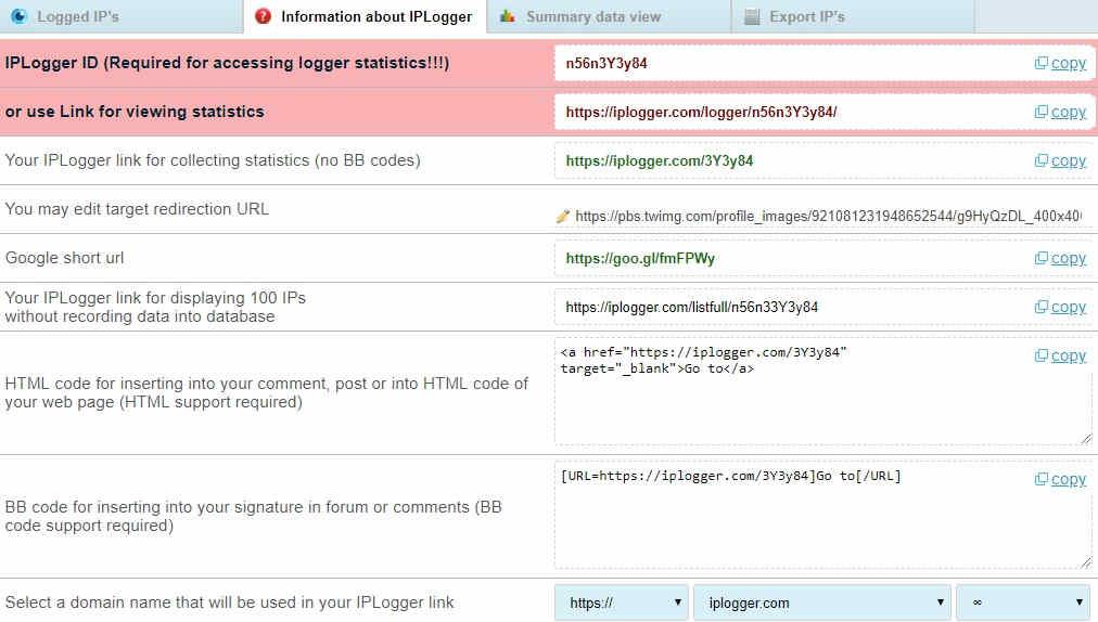 Information about iplogger image short url | CODYBABA