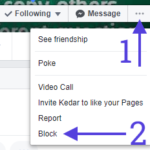 block on facebook