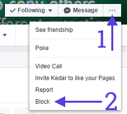 Block from Contact in Facebook Messenger