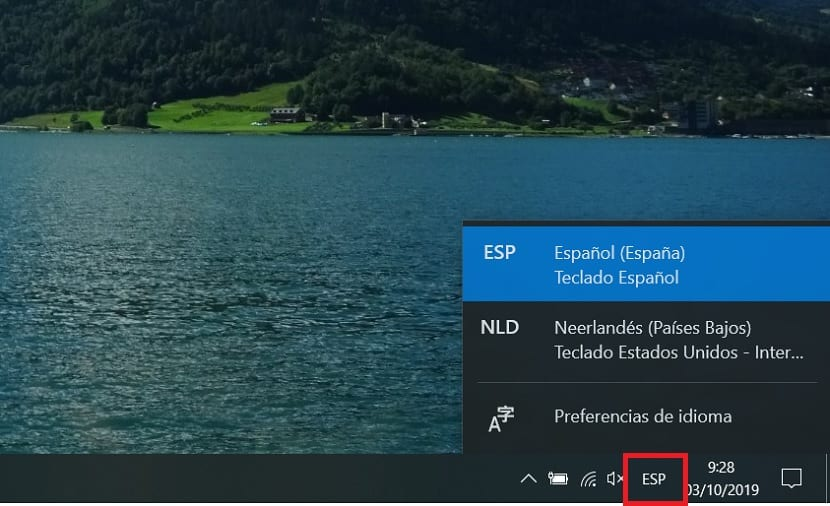 How to put the keyboard in Spanish in Windows 10