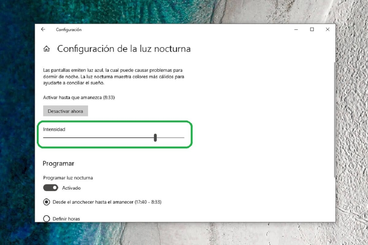 How to manually select night light intensity in Windows 10