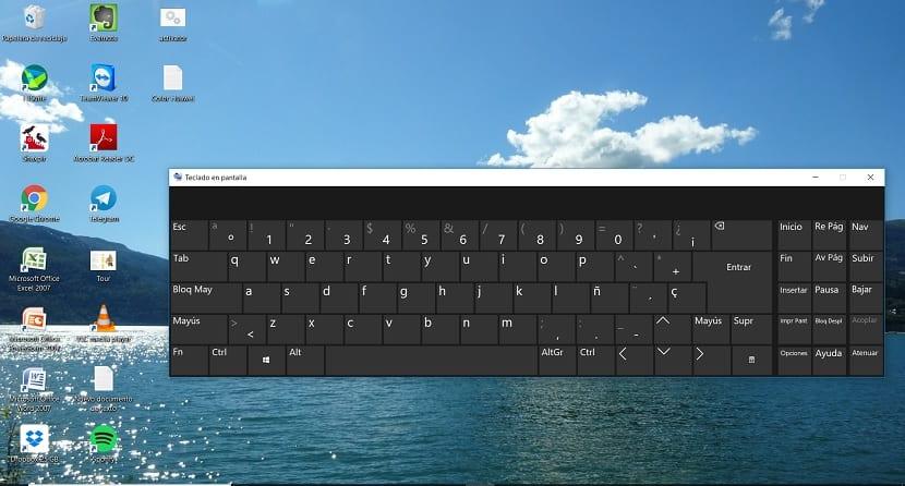 Screen keyboard