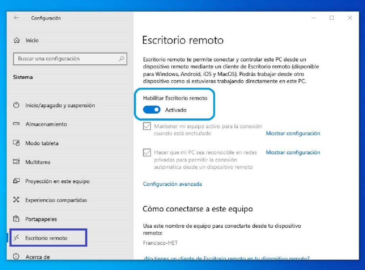 How to enable remote desktop access (RDP) in Windows 10