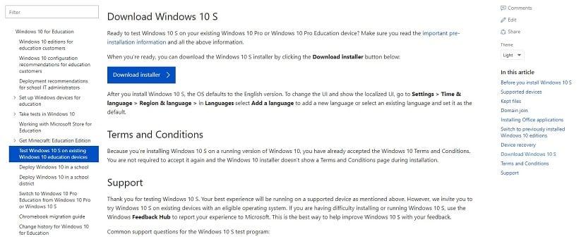 Windows 10 S Installer