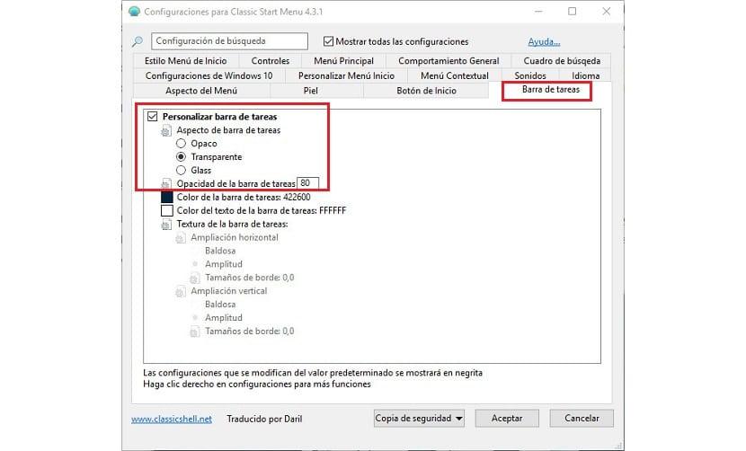 How to make the Windows 10 taskbar transparent