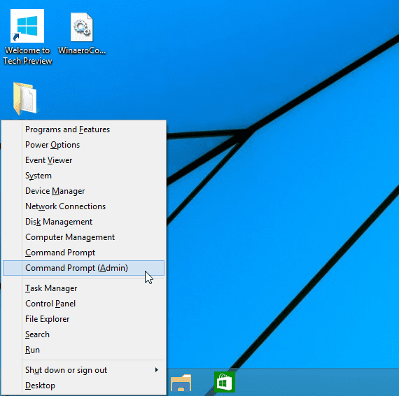 Run commands in windows 10 from the start menu